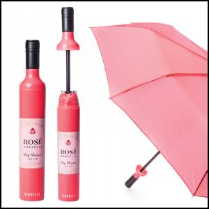 Wine Bottle Umbrella- Rose Labeled-01